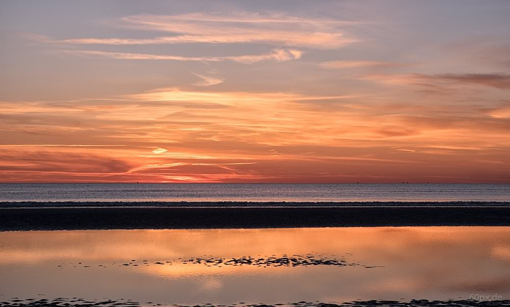 Sonnenuntergang auf der dänischen Insel Römö