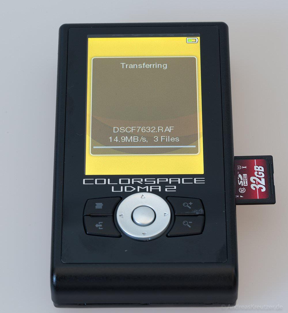 UDMA2 Colorspace - Datentransfer