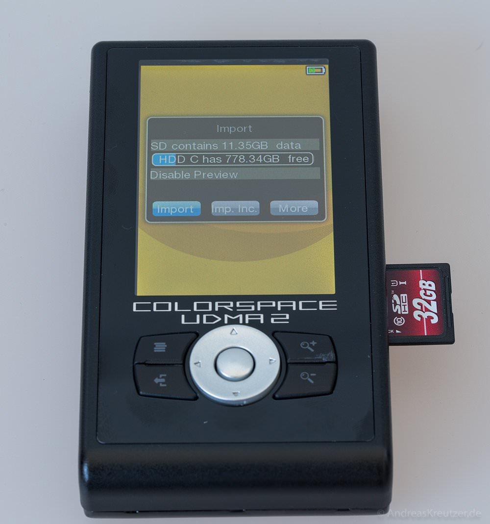 UDMA2 Colorspace - Import