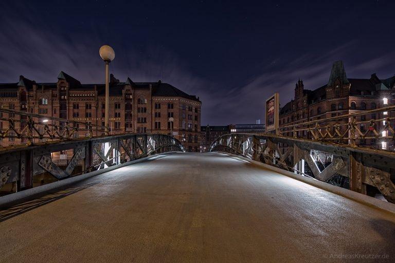 Jungfernbrücke in der Hamburger Speicherstadt
