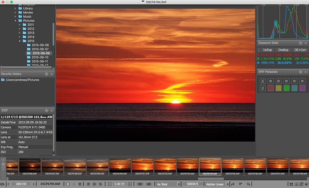 Screenshot FastRawViewer