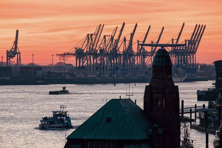 Abends am Hamburger Hafen