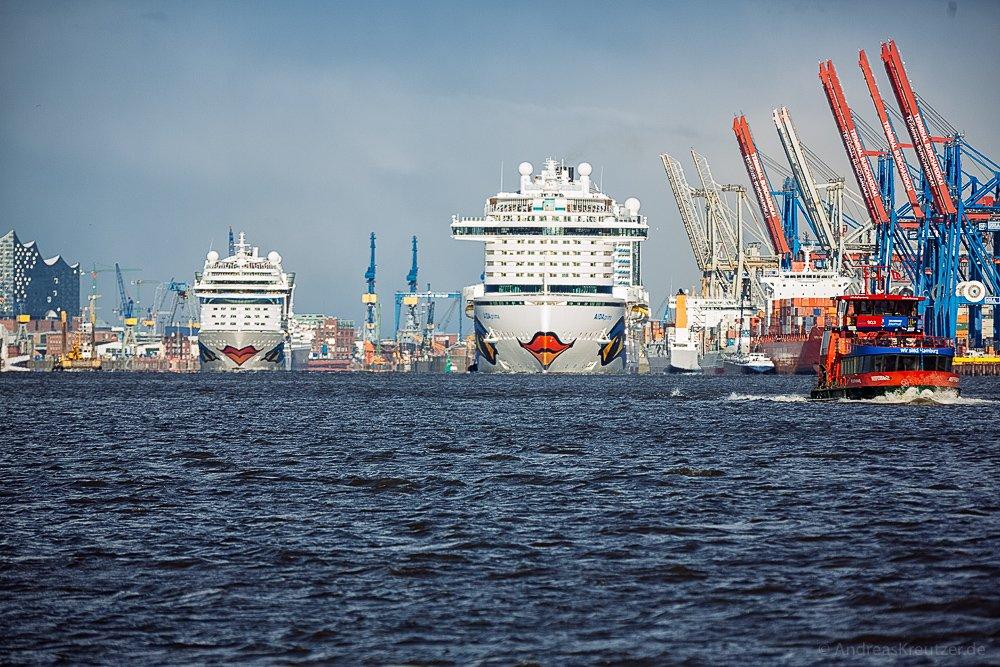 AIDAprima und AIDAmar in Hamburg IV