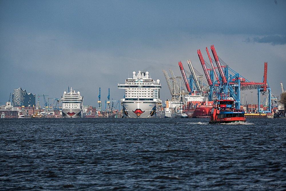 AIDAprima und AIDAmar in Hamburg