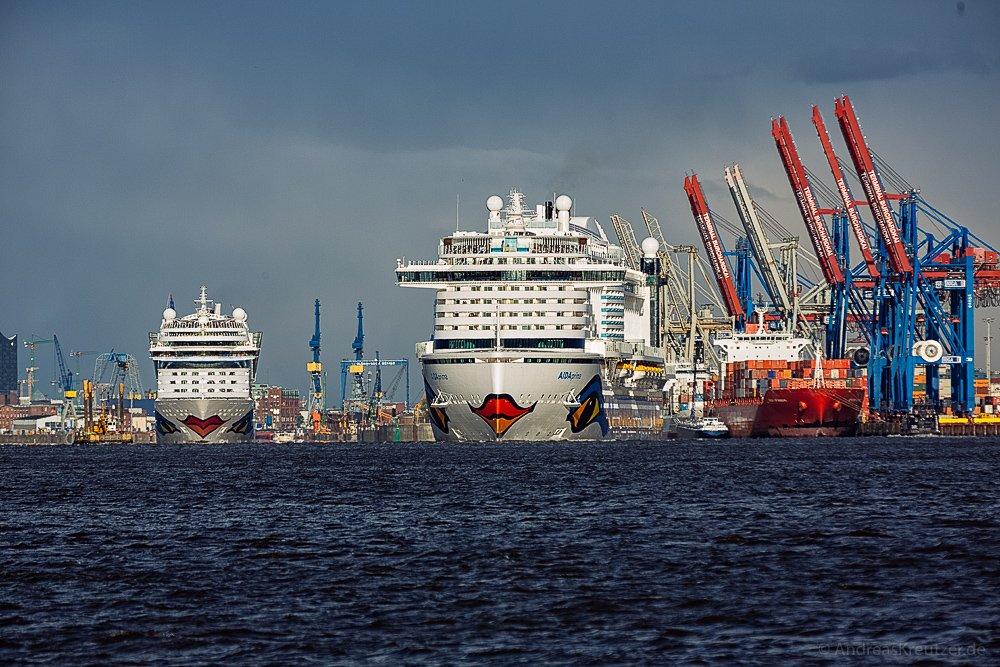 AIDAprima und AIDAmar in Hamburg VI