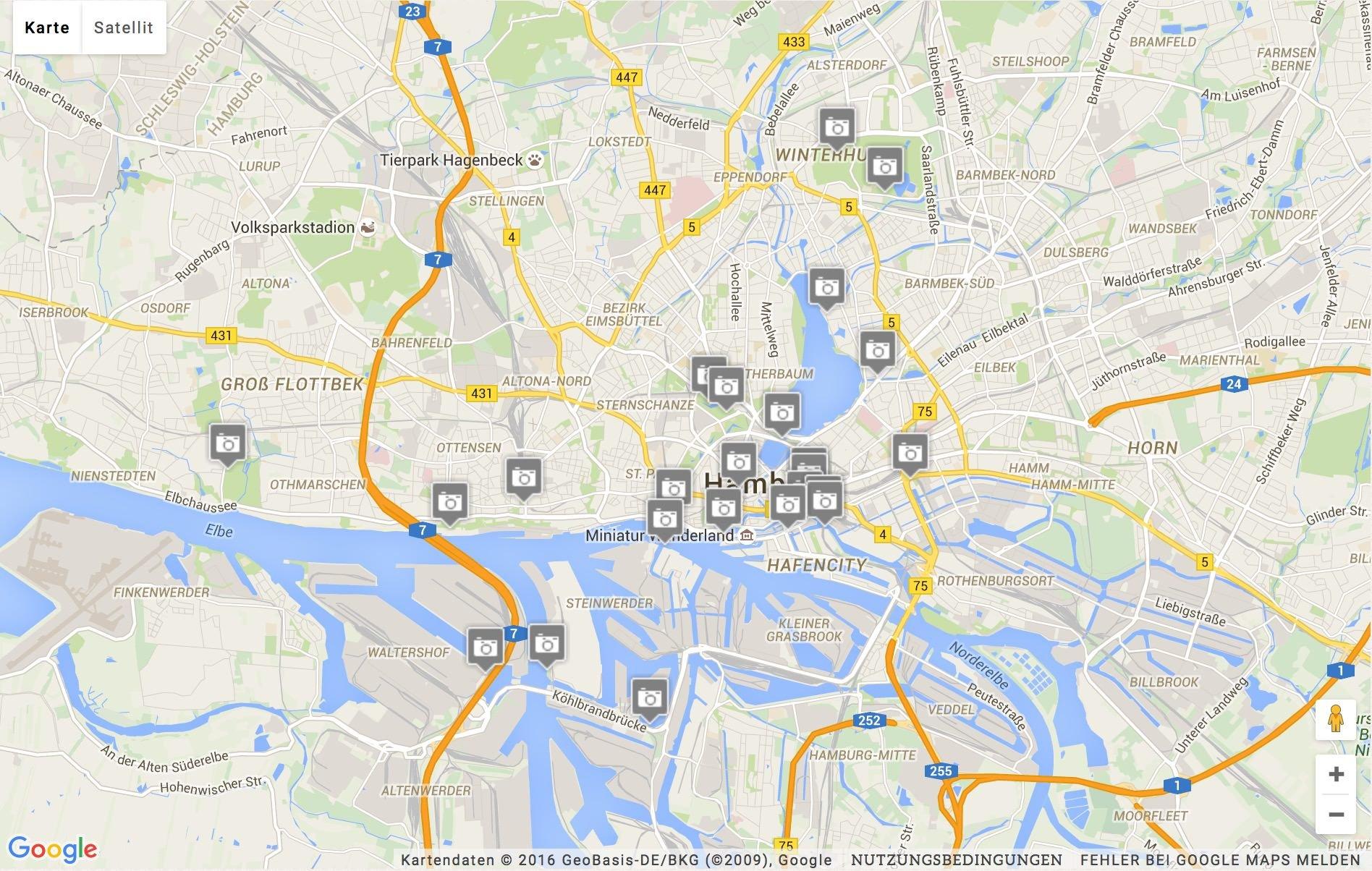 Hamburg Karte Sehenswurdigkeiten.Karte Archive Andreas Kreutzer Fotografie