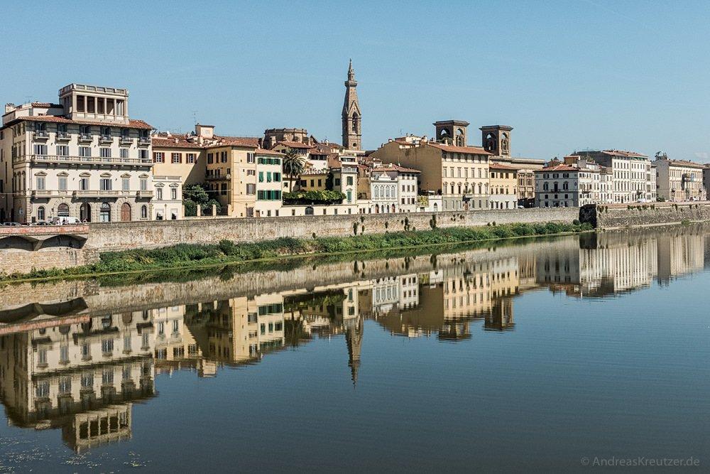 Blick von Ponte alle Grazie auf Florenz