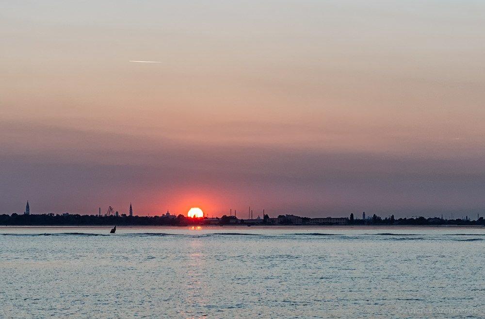 Blick von Punta Sabbioni auf die Lagune von Venedig