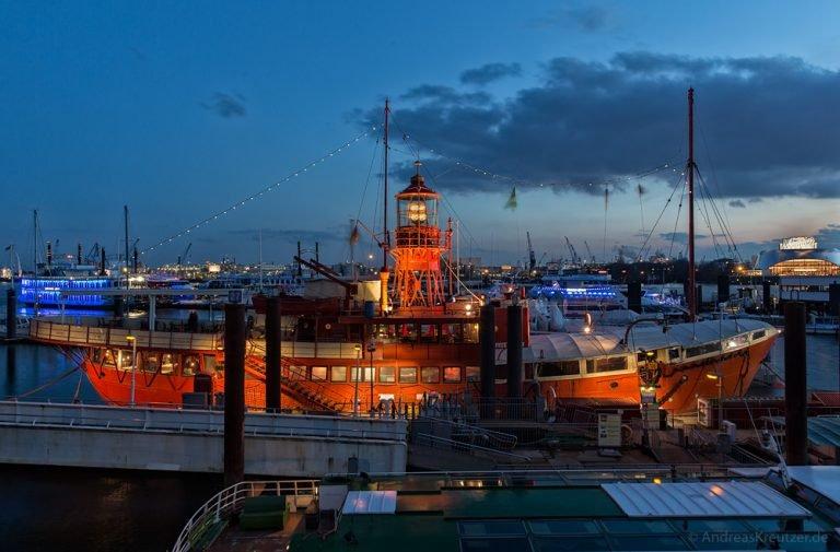 Feuerschiff im Hamburger Hafen