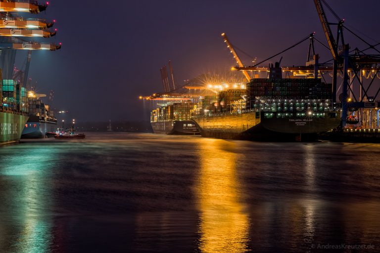 Waltershofer Hafen am Morgen III