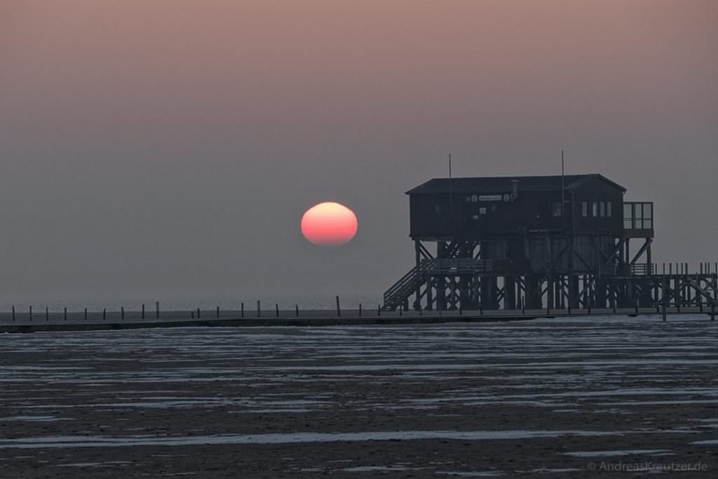 Sonnenuntergang in Sankt Peter-Ording