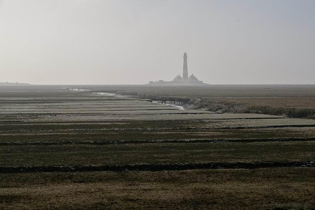 Westerhever Leuchtturm und Salzwiesen