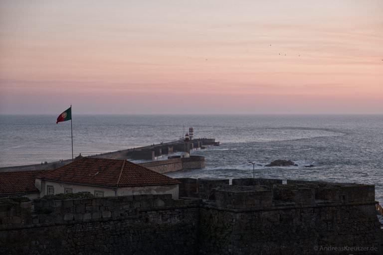 Sonnenuntergang am Foz do Douro