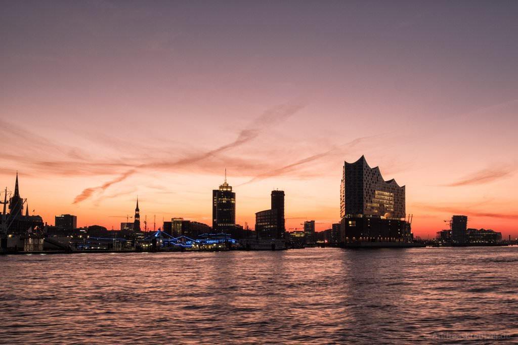 Morgens am Hamburger Hafen