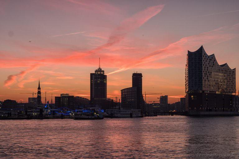 Sonnenaufgang in der HafenCity