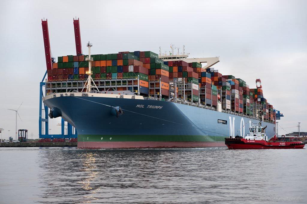 MOL Triumph in Hamburg
