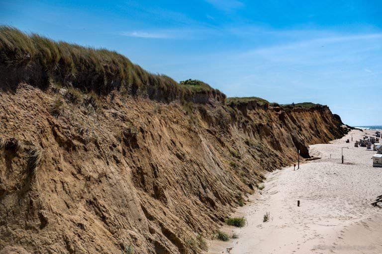 Rotes Kliff in Kampen auf Sylt