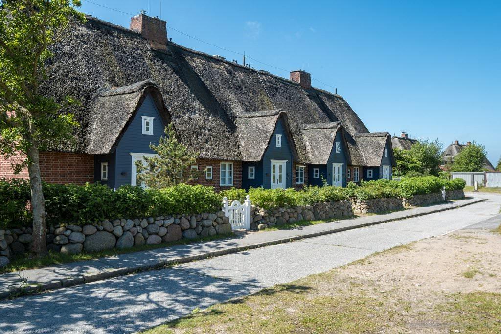 Häuser am Mövengrund in List auf Sylt