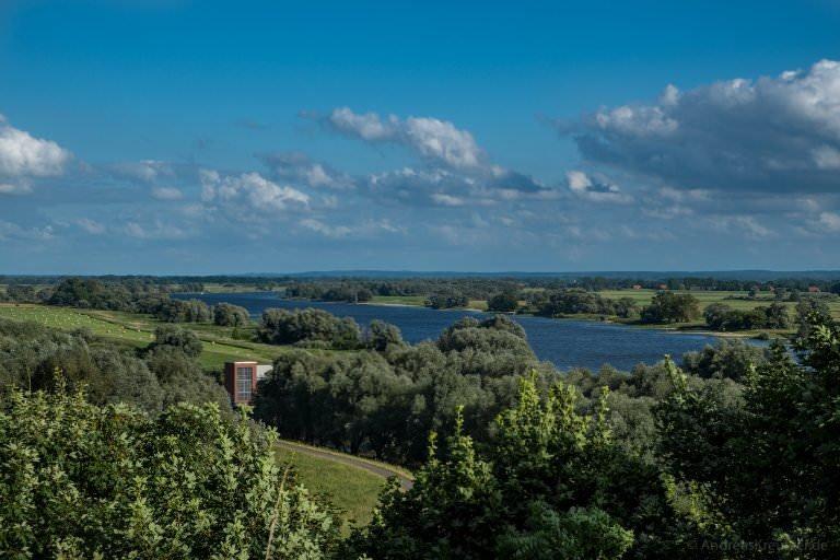 Blick auf die Elbe bei Boizenburg