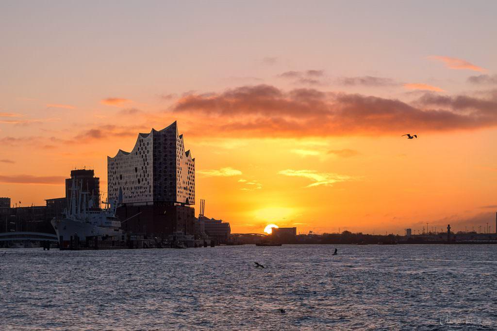 Sonnenaufgang am Hafen
