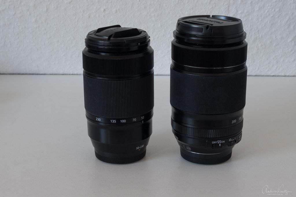 Fujinon XF 55-200 vs. XC 50-230