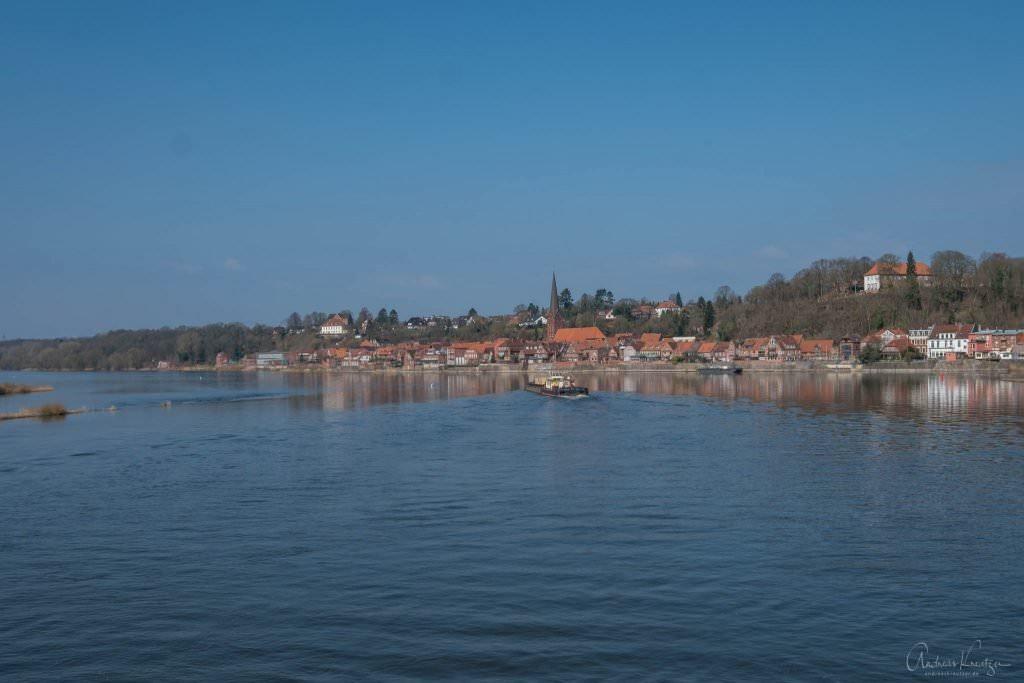 Blick auf Lauenburg von der Elbbrücke