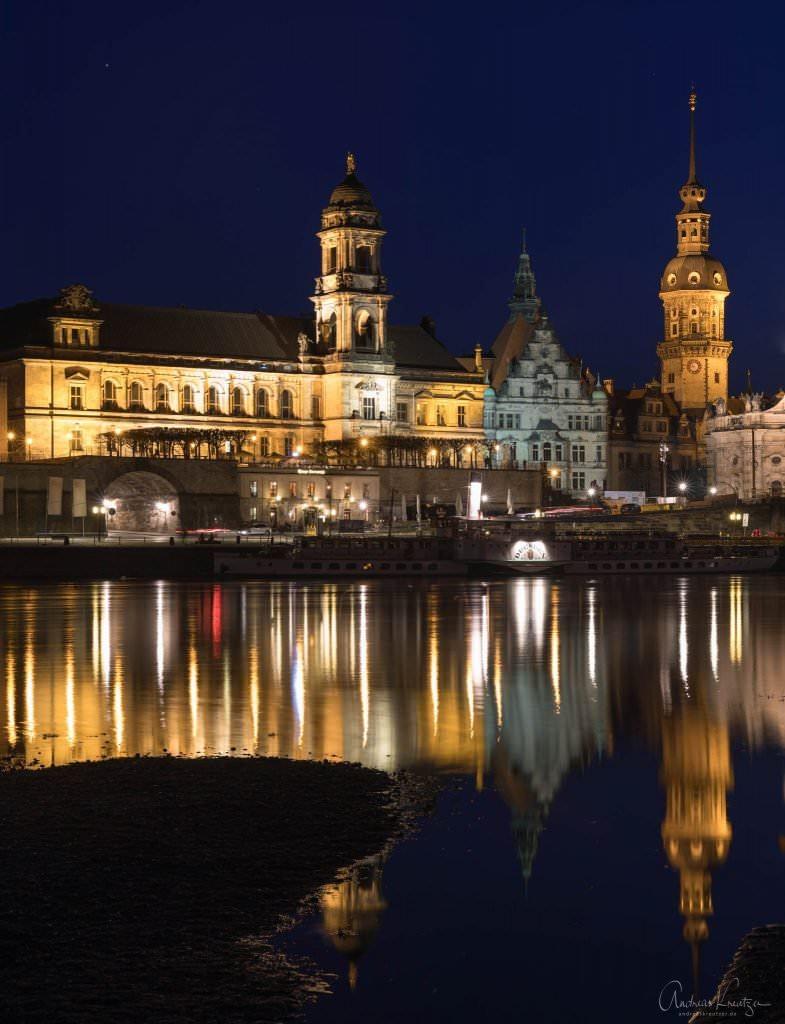 Dresden zur blauen Stunde