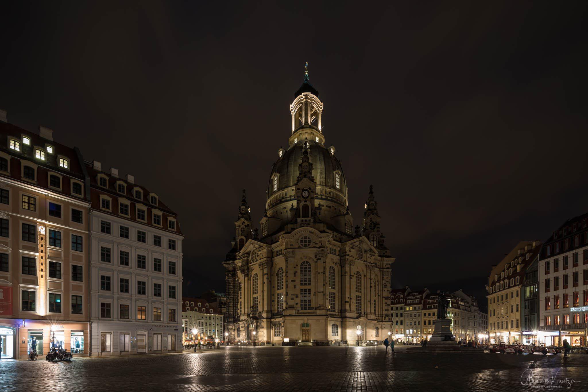 Frauenkirche in Dresden bei Nacht