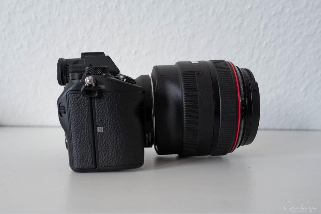 Sony A7 III mit Sigma MC 11 und Canon 85 1.2