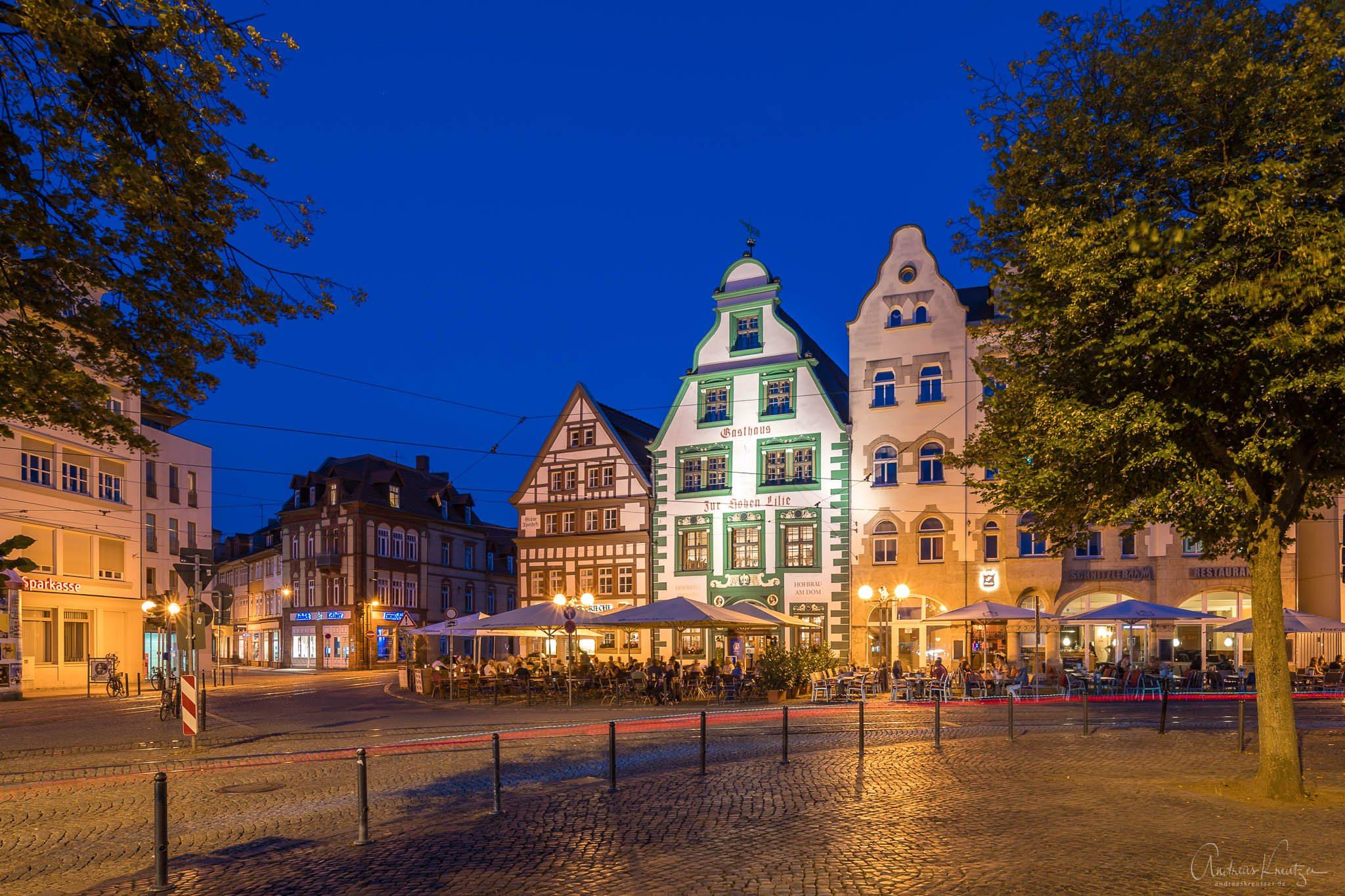 Am Domplatz in Erfurt