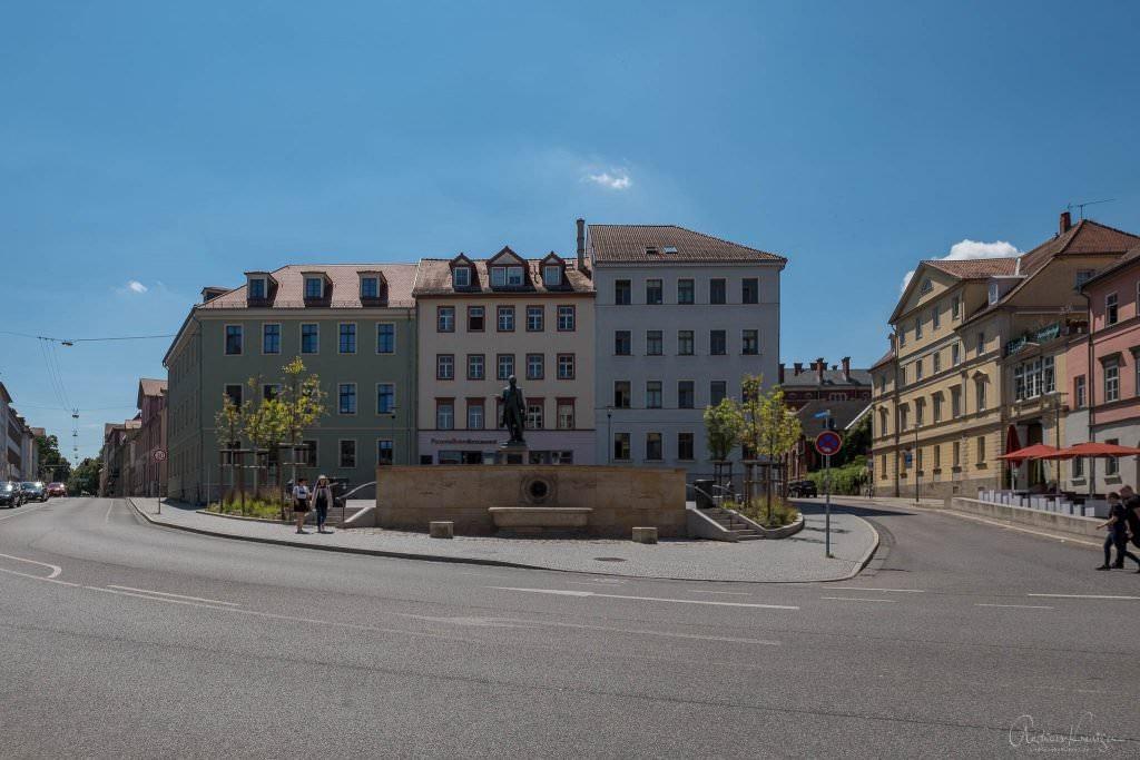 Wielandplatz in Weimer