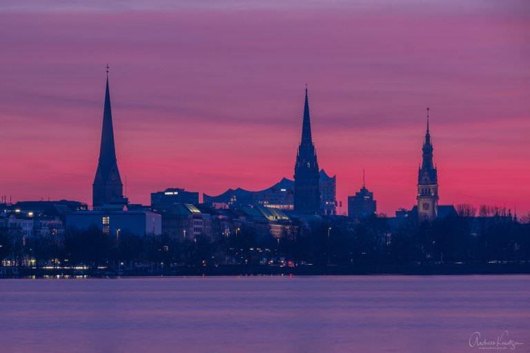 City im Abendlicht