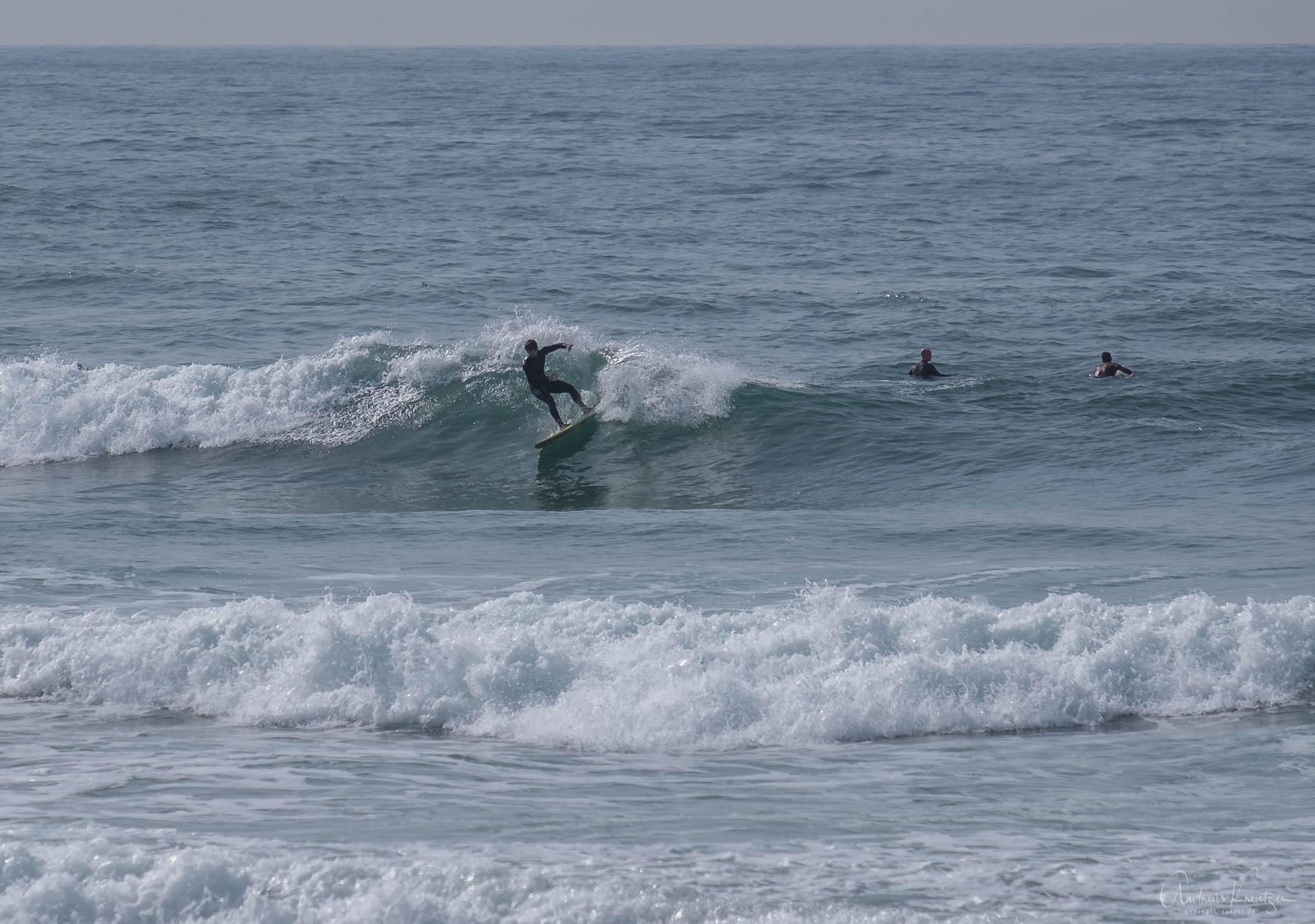 Surfer am Strand von Matosinhos