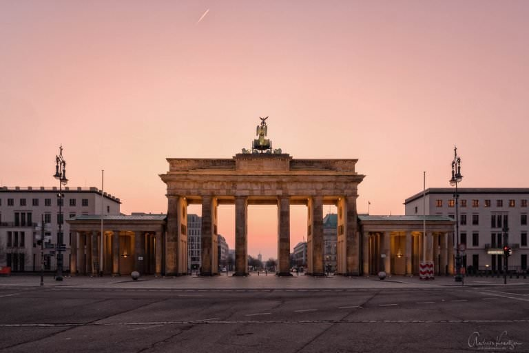 Brandenburger Tor am Morgen