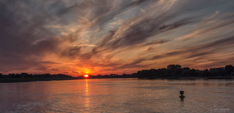 Sonnenuntergang an der Elbe 0714