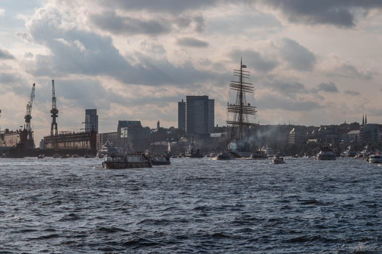 """Rückkehr der historische Viermastbark """"Peking"""" nach Hamburg"""